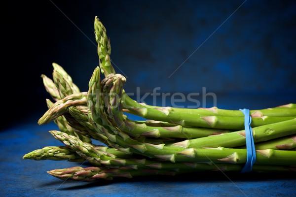 Spargel blau Essen Stock foto © pedrosala