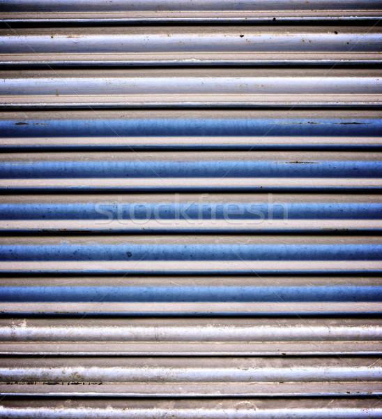 金属 シャッター 高い 青 レトロな ストックフォト © pedrosala
