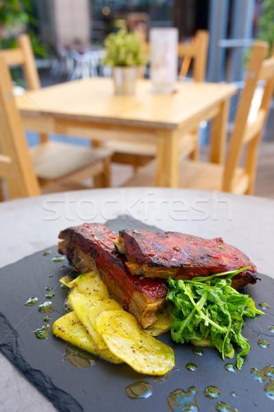 リブ クローズアップ 野菜 夏 レストラン ストックフォト © pedrosala