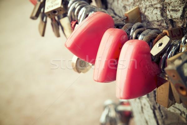 Love padlocks view Stock photo © pedrosala