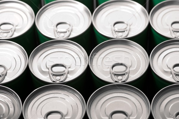 Cans close up Stock photo © pedrosala
