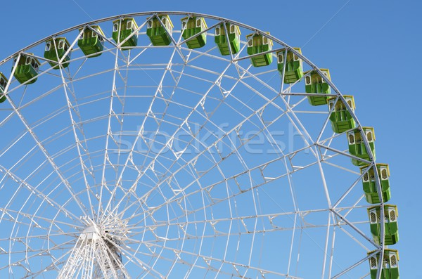 Mavi gökyüzü gökyüzü yeşil mavi eğlence Stok fotoğraf © pedrosala