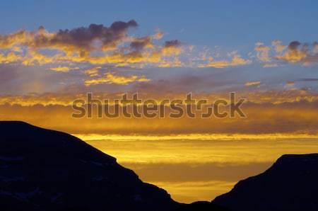 Stock photo: color sky