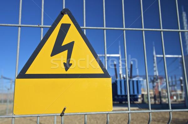 高電圧 青空 技術 金属 セキュリティ ストックフォト © pedrosala