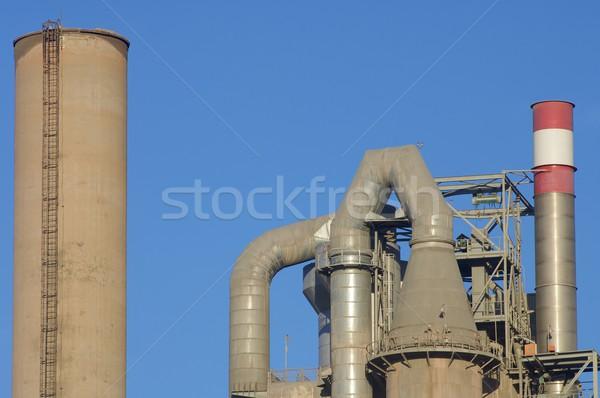 Ipari cement kék ég Spanyolország technológia háttér Stock fotó © pedrosala