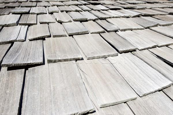 Hout dak onderdak vallei huis textuur Stockfoto © pedrosala