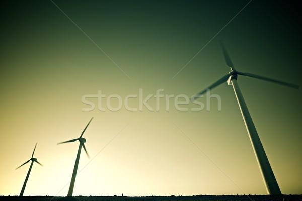 Szél energia elektromos erő gyártás LA Stock fotó © pedrosala