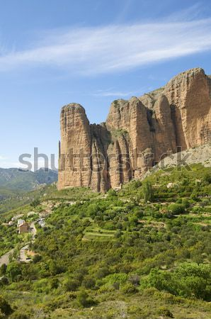 Riglos landscape Stock photo © pedrosala