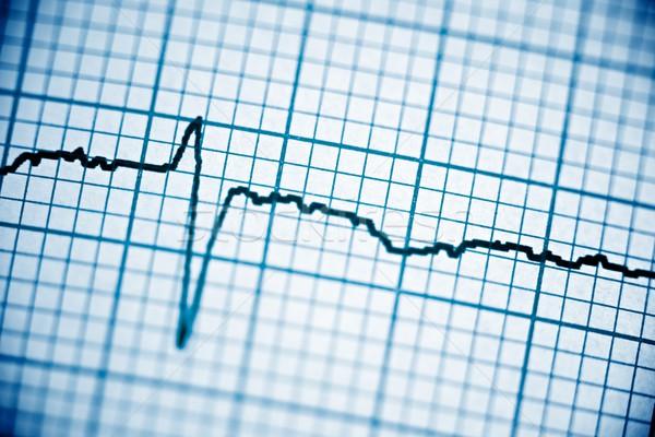 Elektrokardiogram közelkép papír űrlap szív kórház Stock fotó © pedrosala