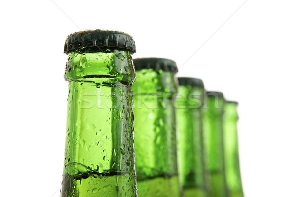 Bière vert bouteilles fête résumé lumière Photo stock © pedrosala