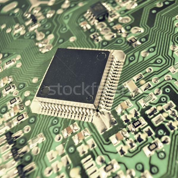 Integrato circuito primo piano chip scienza industriali Foto d'archivio © pedrosala