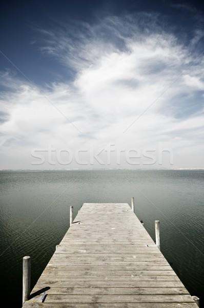 Meer houten pier Valencia Spanje Stockfoto © pedrosala