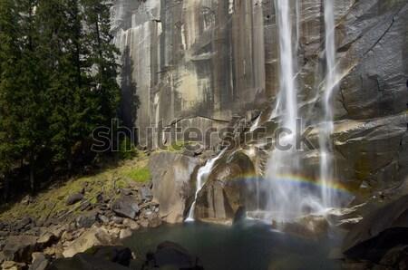 秋 滝 下がり 壁 花崗岩 ヨセミテ国立公園 ストックフォト © pedrosala