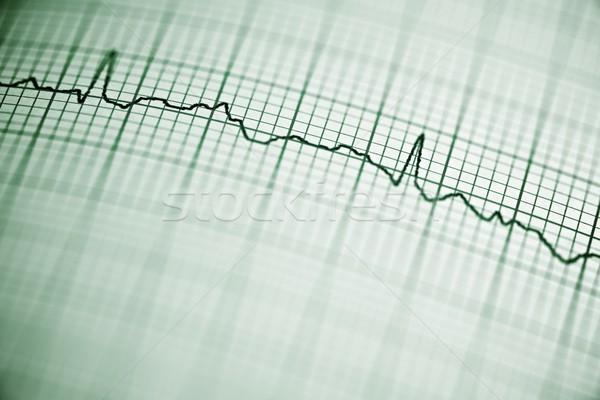 Сток-фото: ЭКГ · бумаги · форме · сердце · тело