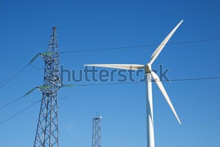 Vent énergie électrique technologie ferme pouvoir Photo stock © pedrosala
