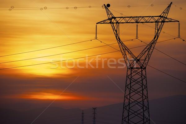 Power line Stock photo © pedrosala