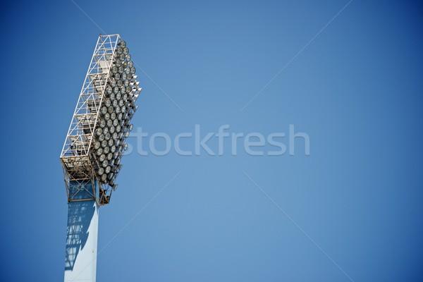 Stade lumières ciel bleu école football Photo stock © pedrosala
