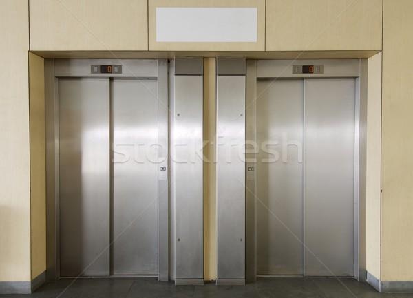 два интерьер здании служба стены дизайна Сток-фото © pedrosala