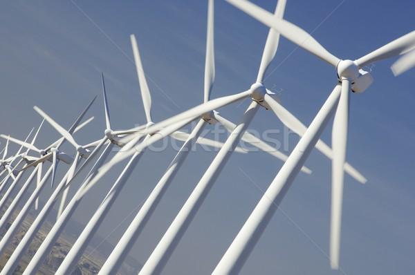 Vento energia parco eolico tecnologia farm futuro Foto d'archivio © pedrosala