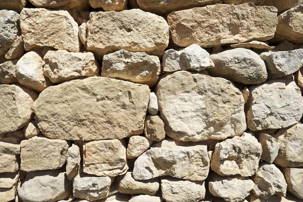 Muro di pietra rurale costruzione muro abstract natura Foto d'archivio © pedrosala