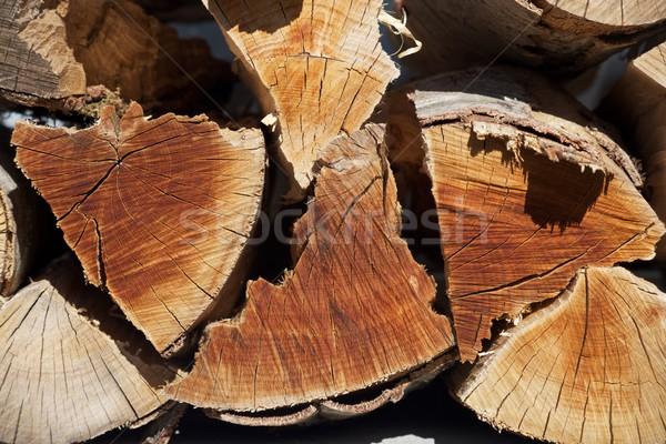 Brandhout groep gesneden textuur hout bouw Stockfoto © pedrosala
