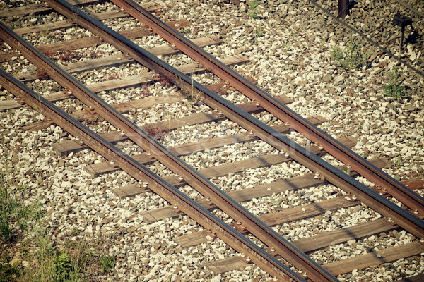 Ferrovia linha Espanha estrada trem Foto stock © pedrosala
