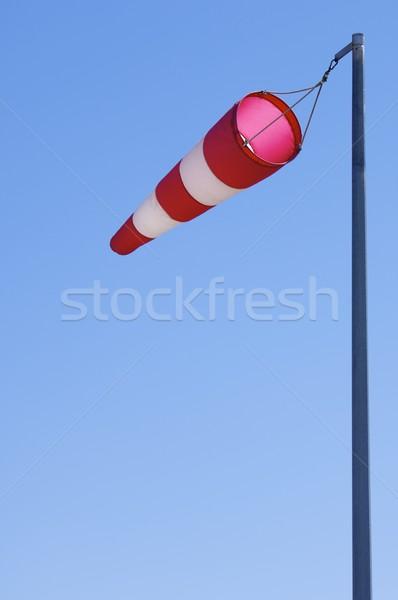 Wind huls manga vliegen blauwe hemel mode Stockfoto © pedrosala