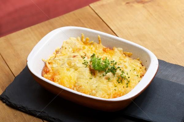 Toskana patates yemek ahşap masa akşam yemeği yeme Stok fotoğraf © pedrosala