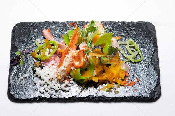 Tavuk salatası ıstakoz gıda balık restoran kırmızı Stok fotoğraf © pedrosala