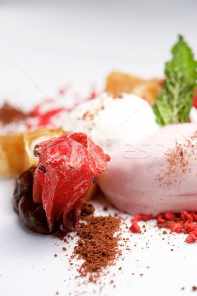 Strawberry ice cream Stock photo © pedrosala