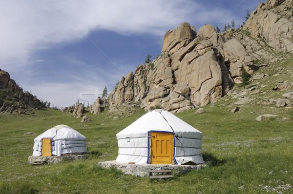 Parque Mongólia casa grama natureza paisagem Foto stock © pedrosala