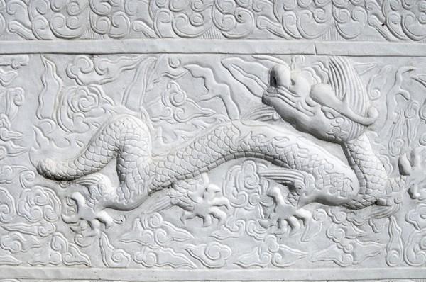 carved dragon Stock photo © pedrosala