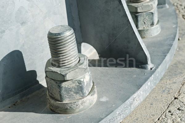 Metaal pijler gebouw fabriek industriële Stockfoto © pedrosala
