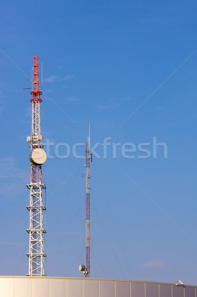 Telecommunicatie gebouw hemel televisie technologie Stockfoto © pedrosala