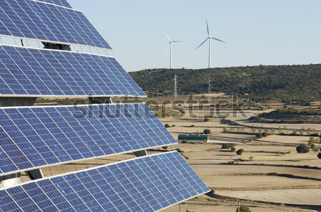 Stockfoto: Fotovoltaïsche · heuvel · natuur · technologie · industrie