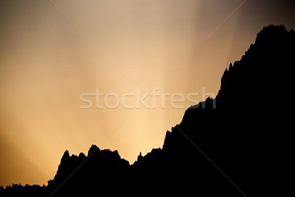 рассвета Альпы Франция пейзаж горные Восход Сток-фото © pedrosala