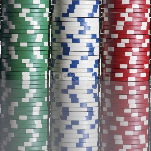 фишки казино белый таблице текстуры фон Сток-фото © pedrosala