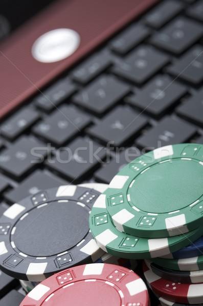 Línea vista fichas de casino apuesta jugar dinero Foto stock © pedrosala