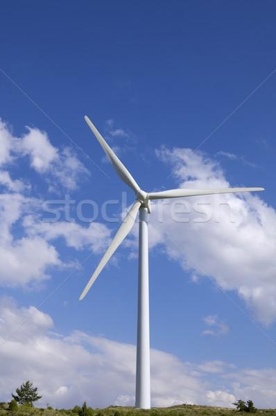 ветер энергии Windmill Чистая энергия производства возобновляемый Сток-фото © pedrosala