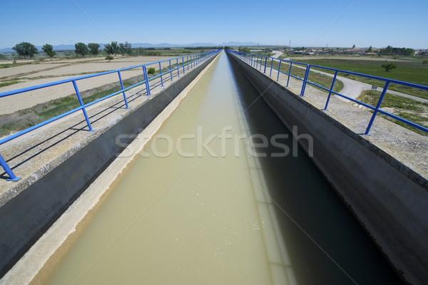 Sulama kanal görmek dev beton teknoloji Stok fotoğraf © pedrosala