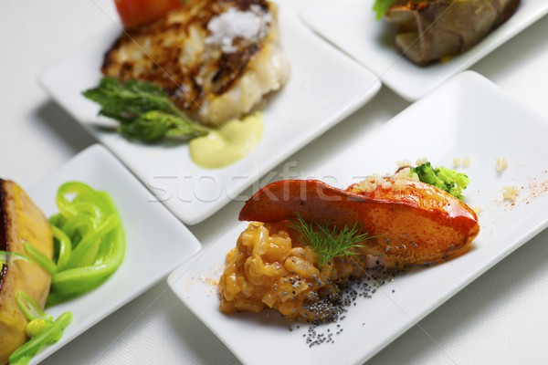 Tapas grupo pequeno branco comida moderno Foto stock © pedrosala