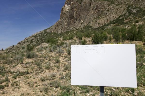 blank sign Stock photo © pedrosala
