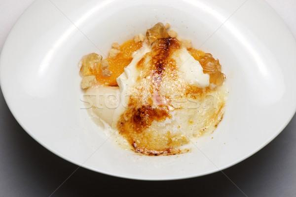 Vanille crème glacée crème fouettée fondu design Photo stock © pedrosala