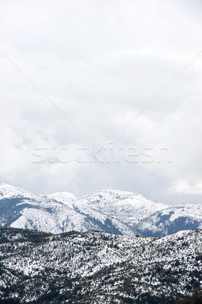 зима гор природы пейзаж каменные облаке Сток-фото © pedrosala