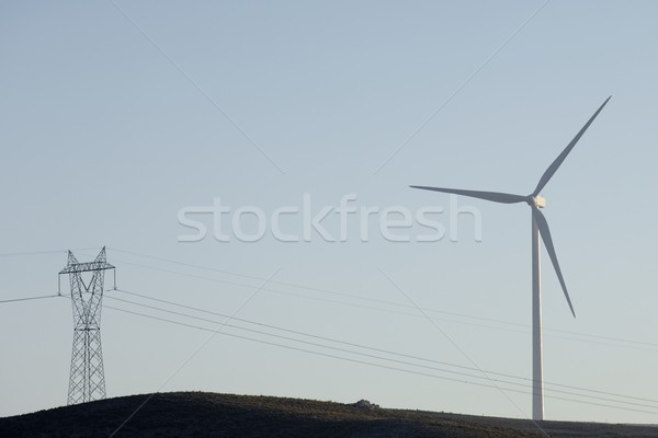 Energie moderne windmolen elektrische macht productie Stockfoto © pedrosala
