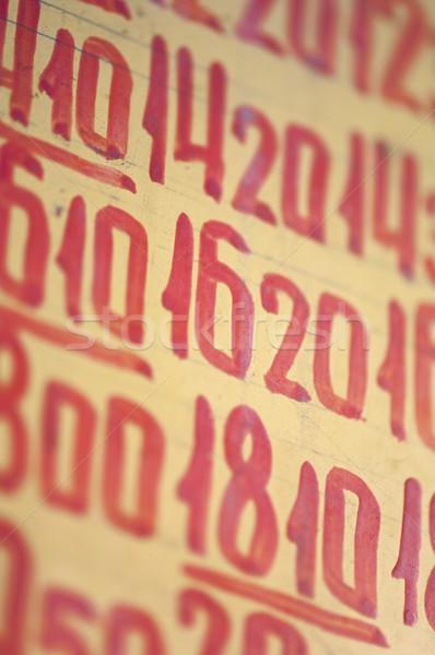 スケジュール 赤 番号 モスクワ ロシア 抽象的な ストックフォト © pedrosala