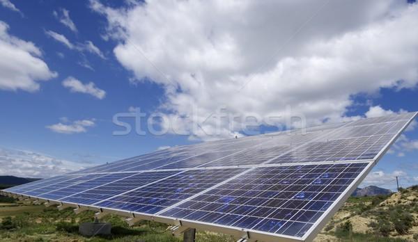 Energia słoneczna płyta elektryczne produkcji Zdjęcia stock © pedrosala