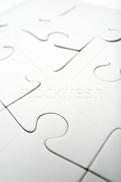 Puzzle sztuk działalności tle pytanie Zdjęcia stock © pedrosala