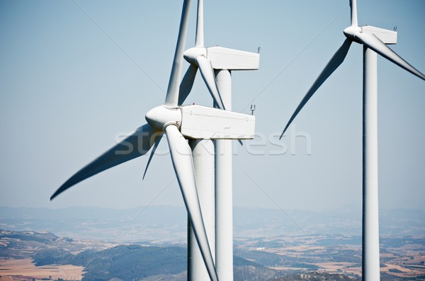 ветер энергии Чистая энергия производства возобновляемый электрических Сток-фото © pedrosala