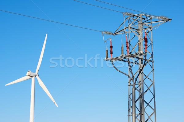 Wiatr energii wiatrak elektryczne moc produkcji Zdjęcia stock © pedrosala